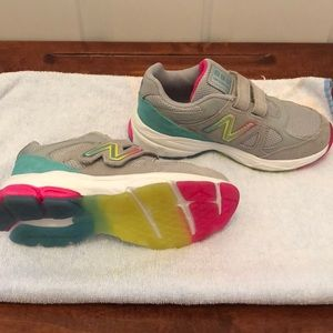 Girls New Balance 888 Rainbow Sneakers Size 12.5